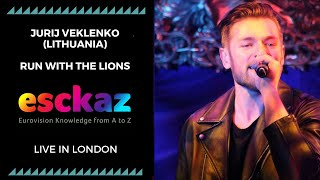 ESCKAZ in London: Jurij Veklenko - Lithuania - Run With The Lions (at London Eurovision Party 2019)