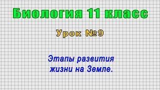 Биология 11 класс (Урок№9 - Этапы развития жизни на Земле.)