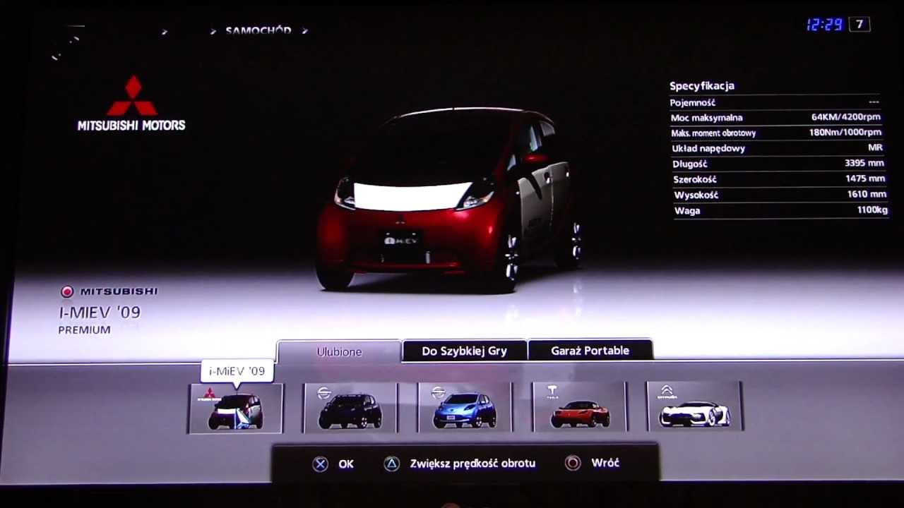 gran turismo 5 electric car list youtube. Black Bedroom Furniture Sets. Home Design Ideas