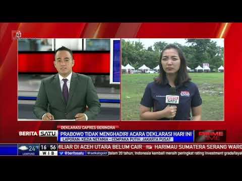 Prabowo Tidak Hadiri Deklarasi Gerindra