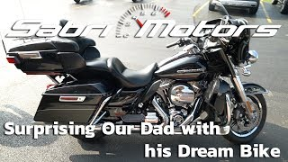 WE SURPRISED OUR DAD WITH HIS DREAM MOTORCYCLE!!!
