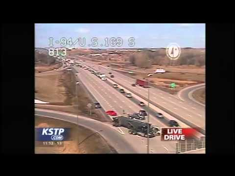 Overturned Semi Causing Traffic Delays on I-94 E near 169