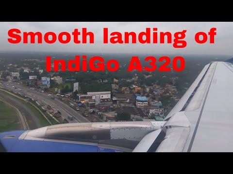 Landing at Kolkata Airport early morning [Full HD] | IndiGo Airlines A320