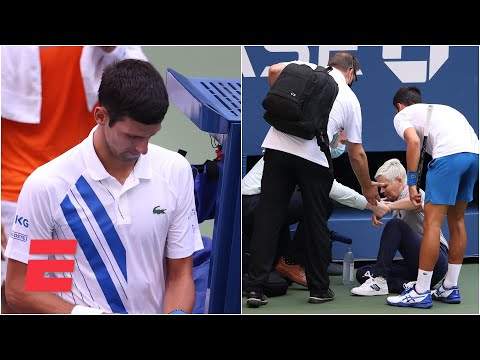 Novak Djokovic Out Of Us Open After Hitting Judge With Tennis Ball 2020 Us Open Highlights Youtube