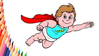 Coloring Pages - Superhero Drawing - How to draw a superhero - chest - easy drawings