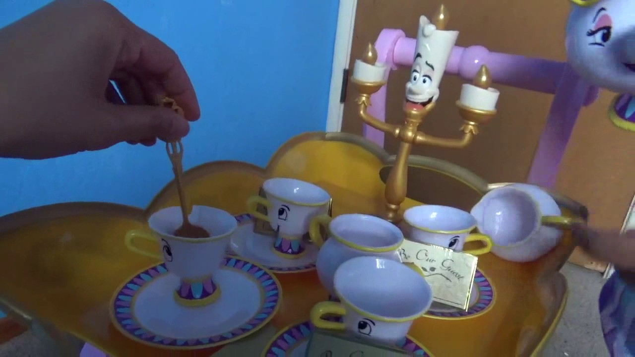 Beauty And The Beast Be Our Guest Singing Tea Cart Set Youtube
