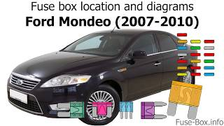 fuse box location and diagrams ford mondeo 2007 2010