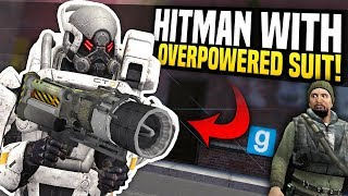 HITMAN WITH OVERPOWERED SUIT - Gmod DarkRP | Taking Out Server Owner!