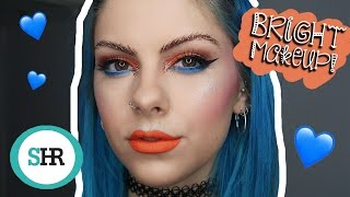 How To: WEAR BRIGHT COLOURED MAKEUP | ad