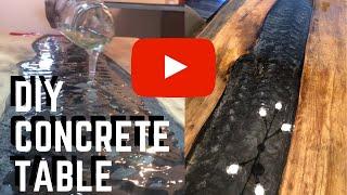 Concrete river table with epoxy