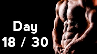 30 days six pack abs workout program day 18 30