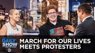 Matt Deitsch and Emma González on Meeting Counterprotesters - Exclusive | The Daily Show