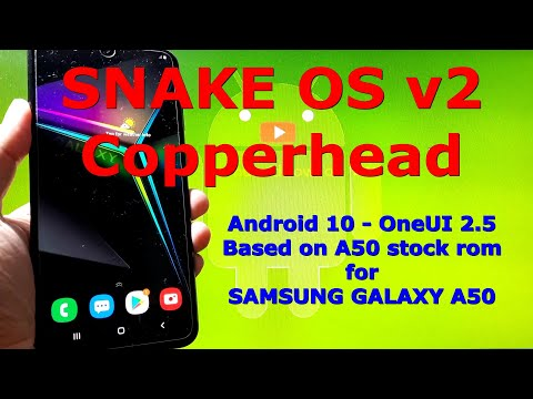 Snake OS v2 Copperhead for Samsung Galaxy A50 Android 10 Custom ROM