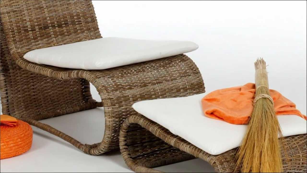 Malerisch Sessel Bequem Referenz Von Rattan - Lesen - Mit Fußhocker Von