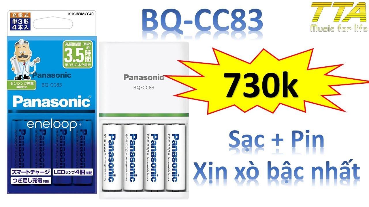 Máy Sạc + Pin Eneloop BQ-CC83. Đỉnh cao công nghệ của Japan