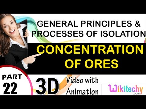 Concentration of ores general principles and processes of isolation of elements 12 chemistry cbse