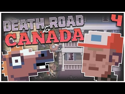 Death Road to Canada - #4 - Friggin' Zombie Hordes! (2 Player Gameplay)