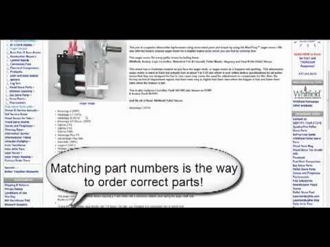 Finding Pellet Stove Parts Guide - Video