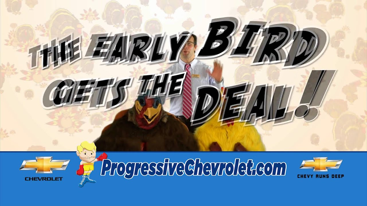 Progressive Chevrolet, Dealer For The People, Kicks Off The Early Bird  Savings Event   YouTube
