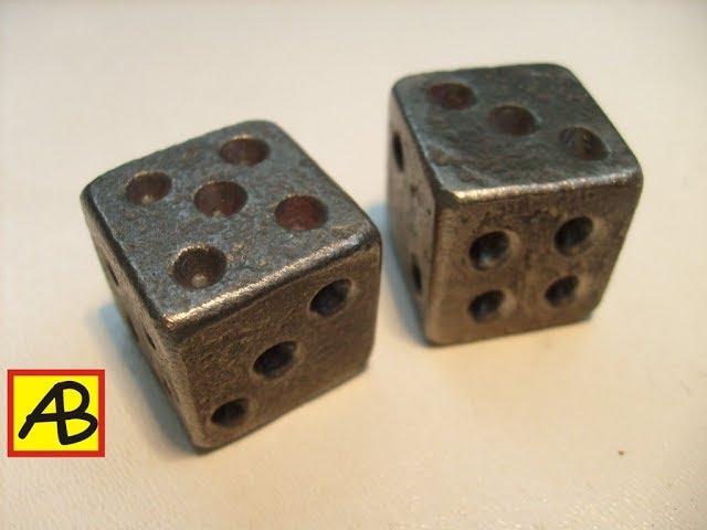 Кованые игральные кости – кости из металла