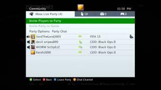 Xbox 360 party glitch rage!