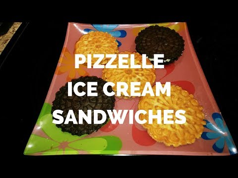 Pizzelle Ice Cream  Sandwiches Video with 3 Ways (Chocolate, Chocolate PB2 and Lemon Curd)