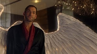 Lucifer Reveal His Wings to Dr. Linda (S03E01)