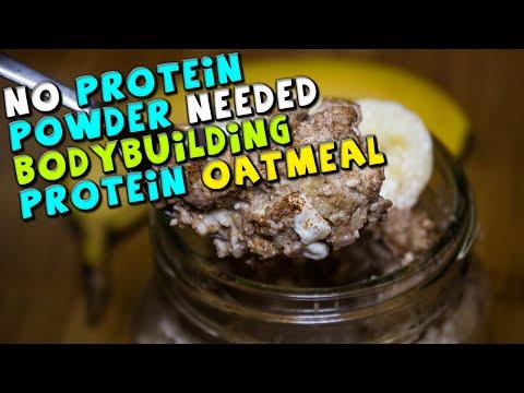 Bodybuilding PROTEIN Oatmeal Recipe (No Powder Needed)