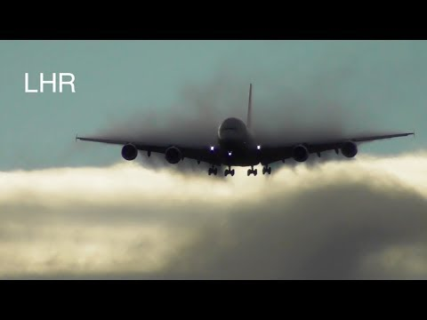 Plane Spotting *Morning Arrival*London Heathrow  inc. Condensation Clouds, Vortices...🛩🛩