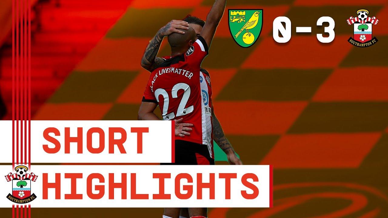 90-SECOND HIGHLIGHTS: Norwich City 0-3 Southampton   Premier League