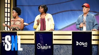 Black Jeopardy with Tom Hanks - SNL(Contestants Keeley (Sasheer Zamata), Shanice (Leslie Jones) and Doug (Tom Hanks) compete on Black Jeopardy, hosted by Darnell Hayes (Kenan ..., 2016-10-23T07:34:46.000Z)