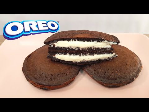 Cómo hacer Panqueques de galletas Oreo | Dorayakis de Oreo #shorts #017