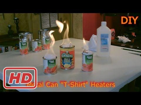 """Homemade Heaters! - The Metal Can """"T-Shirt"""" Heater - DIY Rolled Wick Heater - SHTF/Survival Heater["""