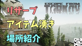 [EscapeFromTarkov] リザーブでのアイテム湧きを解説する動画【音ズレ注意】