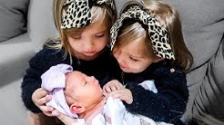 Taytum and Oakley MEET THEIR NEW BABY SISTER! *emotional*