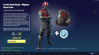 How to get the new Wingman Starter Pack! (Fortnite: Battle Royale)