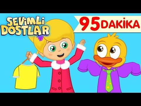 Giy Giy Giyinelim ve Sevimli Dostlar ile 95 Dakika Çizgi Film Bebek Şarkıları