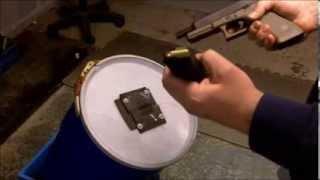 diy gound rubber bullet trap vs 300 aac blackout