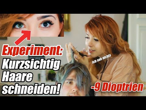 Fast BLIND Haare Schneiden und Färben lol (EXPERIMENT - und Erik muss wieder leiden, sorry bro)