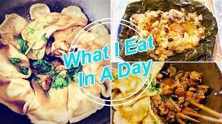 What I Eat In a Day 今天吃什么 | 地锅鸡贴饼子 | 美味炒饭—快手好吃 | 爱心广式粽子