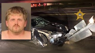 Deputies charge man with OVI after dragging street sign with crashed vehicle