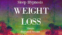 ???? 3 hours repeated loop ~ Sleep hypnosis for weight loss with mindful awareness