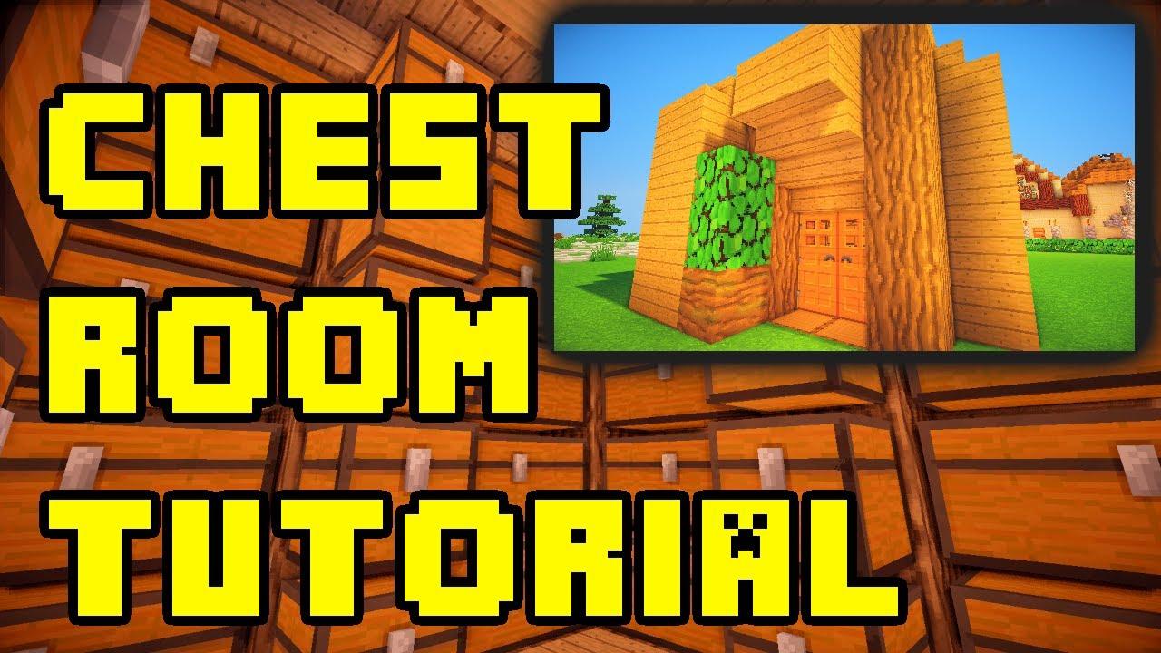 Minecraft Simple Chest Storage Room Ideas Tutorial Xbox