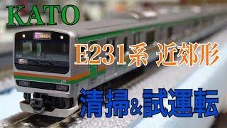 【Nゲージ】30分でできる車輪清掃のし方とE231系の試運転 鉄道模型