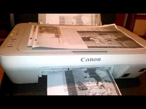 Canon Pixma mg2440. Печать после розмочки картриджей.