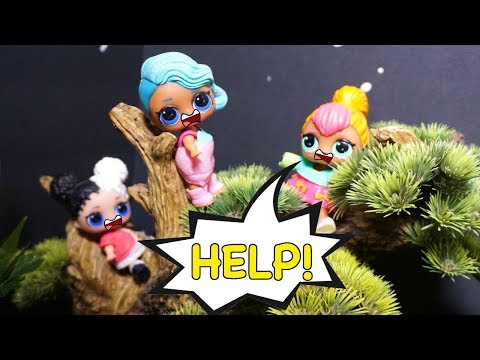 LOL SURPRISE DOLLS Sneak Out And Get Stuck In The Cemetery Tree!