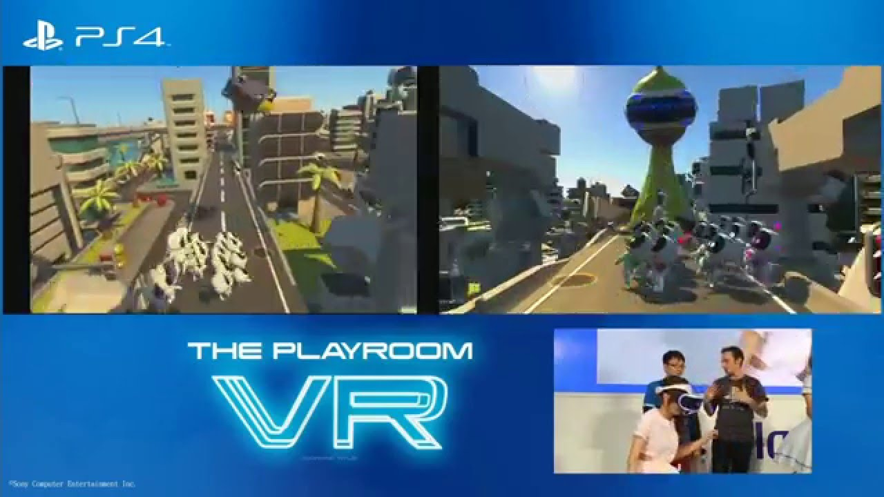 The PlayRoom VR (PS4) - PlayStation VR in Action on Headset and TV at the  Same Time