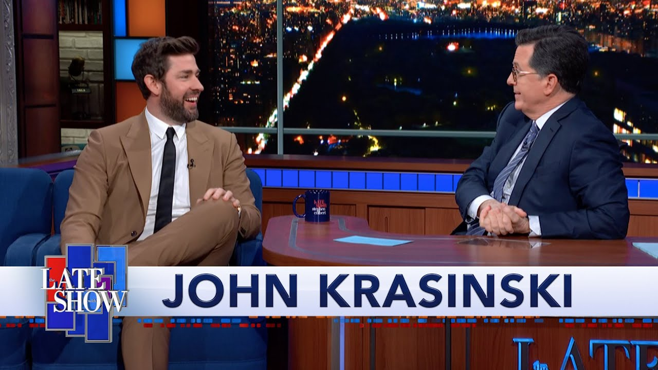 John Krasinski teaches Stephen Colbert to do a Boston accent after ...
