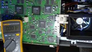 Finding a shorted component with freeze spray. Samsung HLN5065