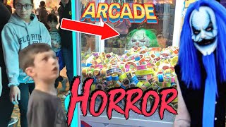 KLOWNS SCARE KIDS AT ARCADE! STALK FAMILY AT HOTEL (Caught on Camera)